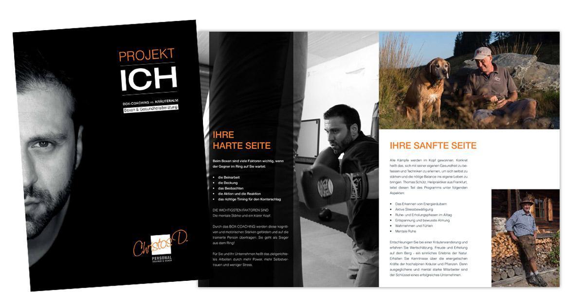 broschüre personaltrainer dimoudis